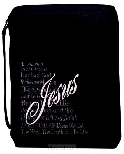 Biblecover medium black names of Jesus