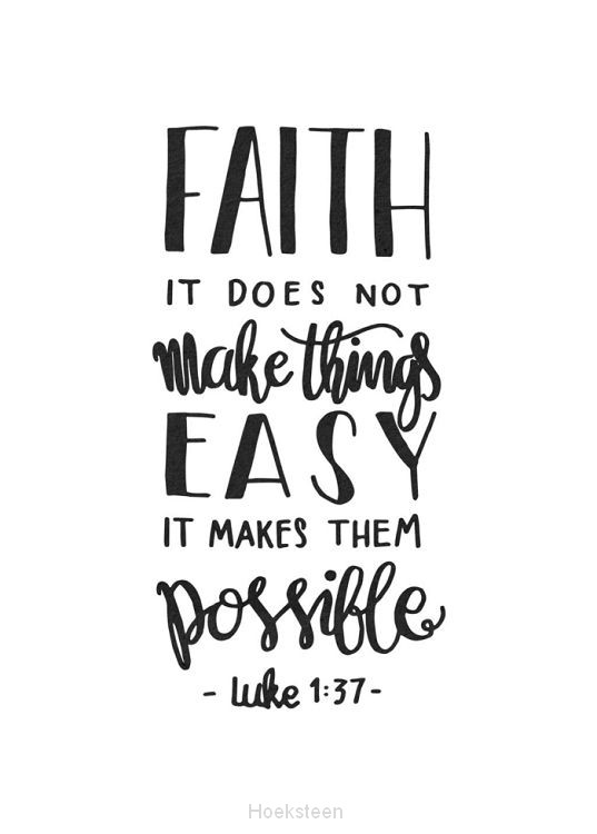Poster A4 zwart-wit Faith make things