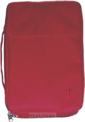 Biblecover canvas burg cross medium