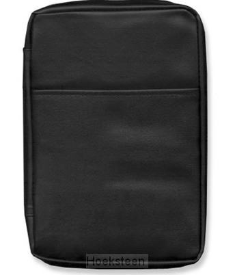 Biblecover faux leather black medium