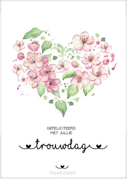 Kaart Gefeliciteerd Trouwdag Bloom Ma31015